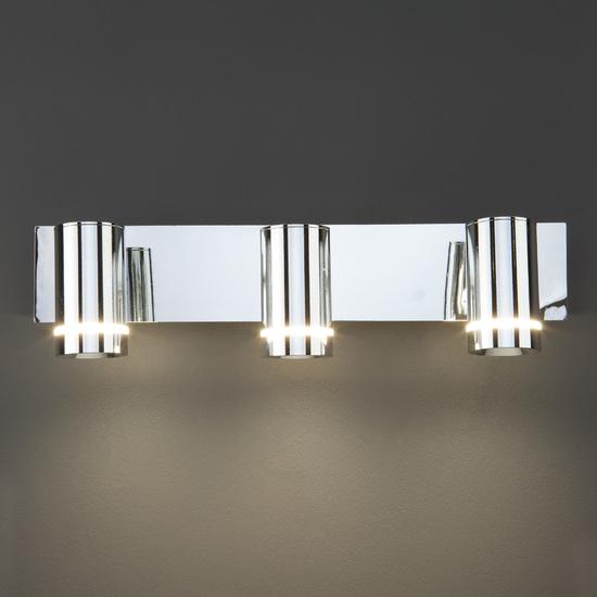 Фото №10 Настенный светильник с поворотными плафонами 20064/3 LED хром