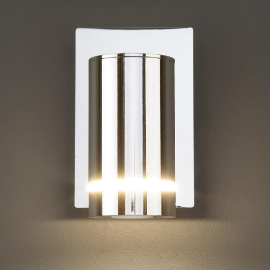 Фото №6 Светодиодный настенный светильник с выключателем 20064/1 LED хром