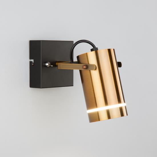 Фото №2 Настенный светодиодный светильник с поворотным плафоном 20063/1 LED античная бронза