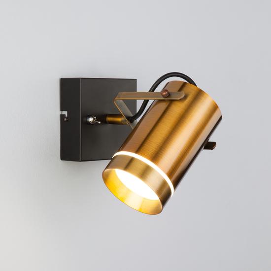Фото №4 Настенный светодиодный светильник с поворотным плафоном 20063/1 LED античная бронза