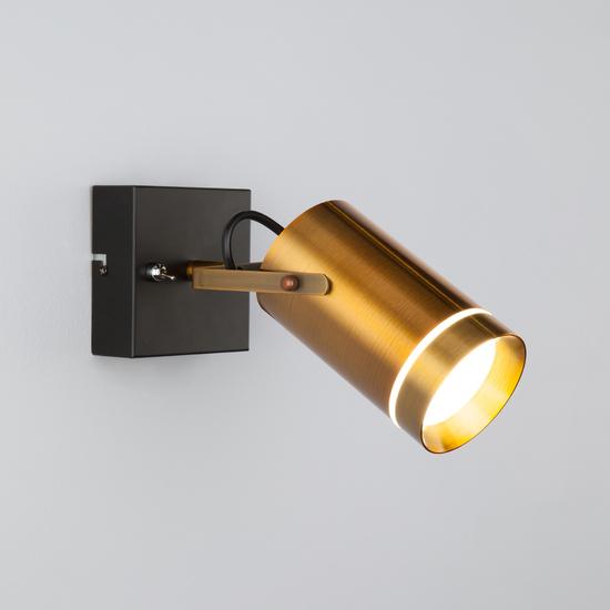 Фото №5 Настенный светодиодный светильник с поворотным плафоном 20063/1 LED античная бронза