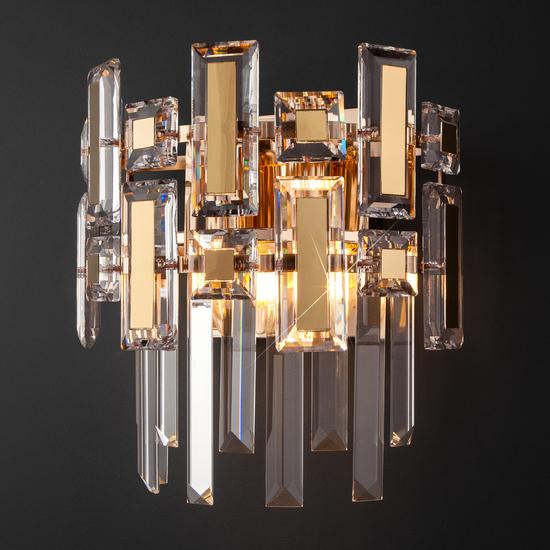 Фото №4 Настенный светильник с хрусталём 330/2 Strotskis