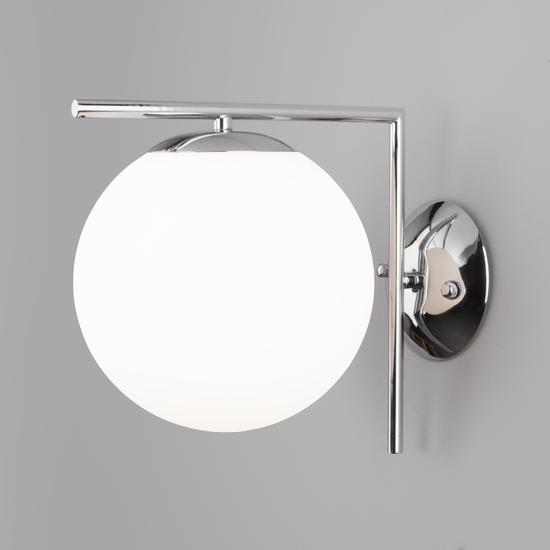 Фото №2 Настенно-потолочный светильник со стеклянным плафоном 70153/1 хром