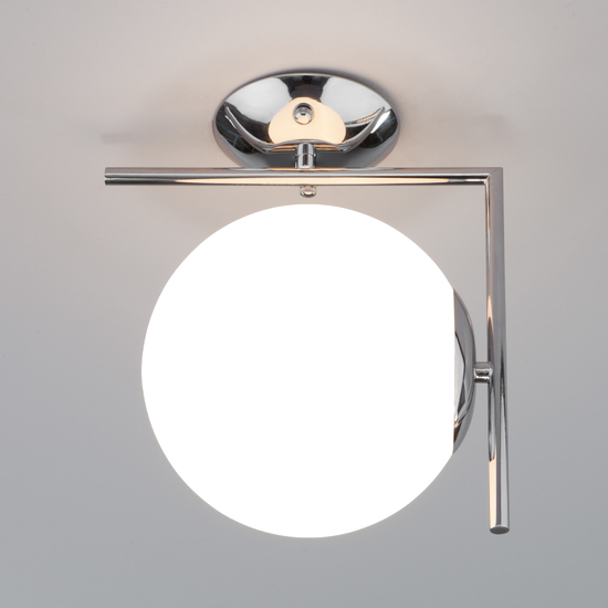 Фото №4 Настенно-потолочный светильник со стеклянным плафоном 70153/1 хром