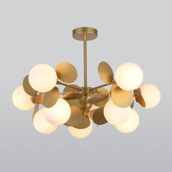 Фото №2 Потолочный светильник с круглыми плафонами 70124/10 перламутровое золото