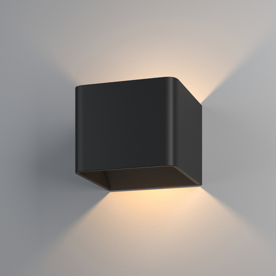 Фото №2 Настенный светодиодный светильник Corudo чёрный MRL LED 1060