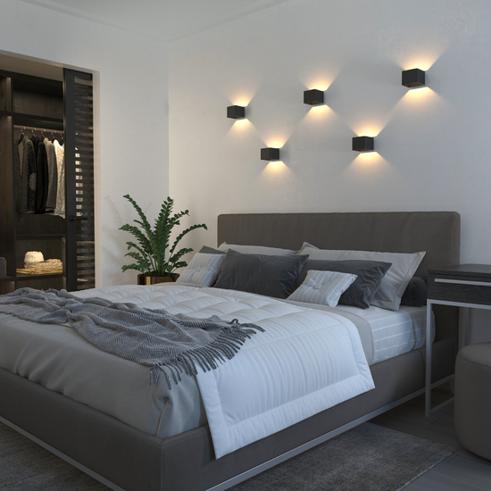 Фото №3 Настенный светодиодный светильник Corudo чёрный MRL LED 1060