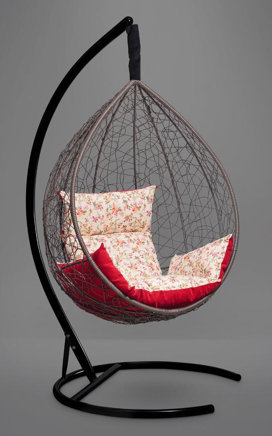 Фото №7 Подвесное кресло-кокон SEVILLA ELEGANT коричневое + каркас