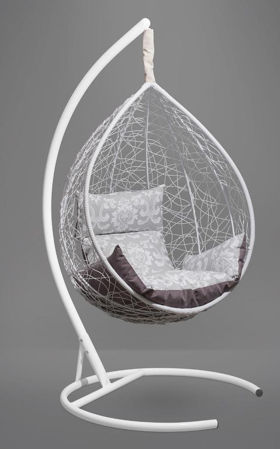 Фото №5 Подвесное кресло-кокон SEVILLA ELEGANT белое + каркас