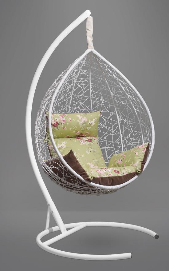 Фото №2 Подвесное кресло-кокон SEVILLA ELEGANT белое + каркас