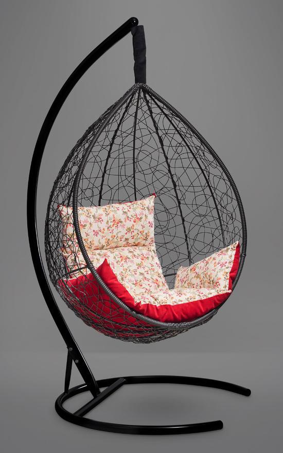 Фото №3 Подвесное кресло-кокон SEVILLA ELEGANT черное + каркас