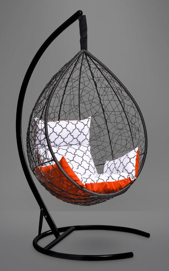 Фото №6 Подвесное кресло-кокон SEVILLA ELEGANT черное + каркас