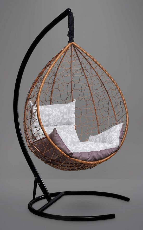 Подвесное кресло-кокон SEVILLA ELEGANT горячий шоколад + каркас