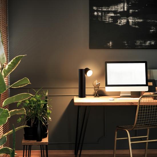 Фото №5 Светодиодная настольная лампа 80425/1 черный