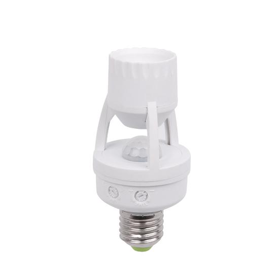 Фото №3 Инфракрасный датчик движения для ламп E27 SNS-M-15 6m 2-3.5m 60W E27 IP20 360 Белый SNS-M-15