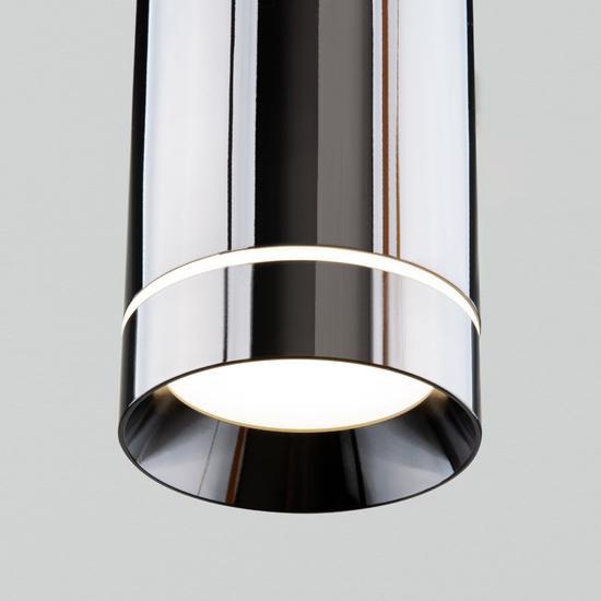 Фото №3 Подвесной светодиодный светильник DLR023 12W 4200K Черный жемчуг