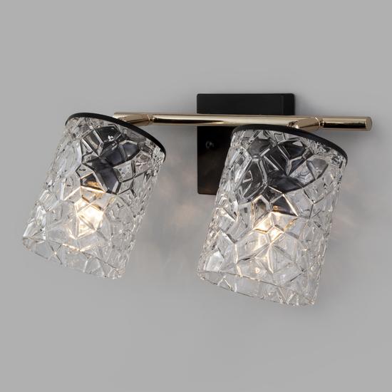 Фото №2 Настенный светильник с выключателем 20095/2 черный/золото