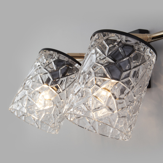 Фото №4 Настенный светильник с выключателем 20095/2 черный/золото