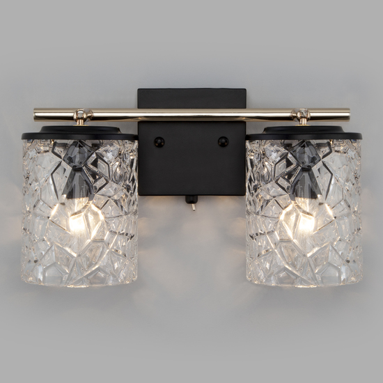 Фото №5 Настенный светильник с выключателем 20095/2 черный/золото