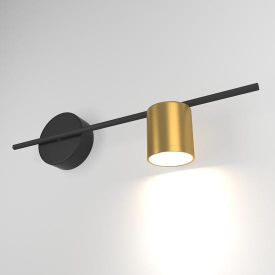 Фото №2 Acru LED черный/золото настенный светильник MRL LED 1019