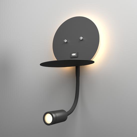 Фото №2 Lungo LED чёрный настенный светодиодный светильник MRL LED 1017