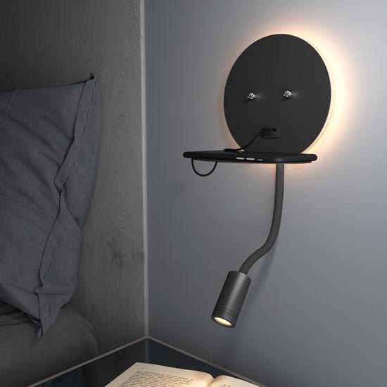 Фото №3 Lungo LED чёрный настенный светодиодный светильник MRL LED 1017