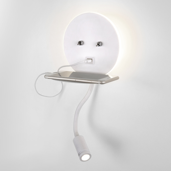 Фото №2 Lungo LED белый настенный светодиодный светильник MRL LED 1017