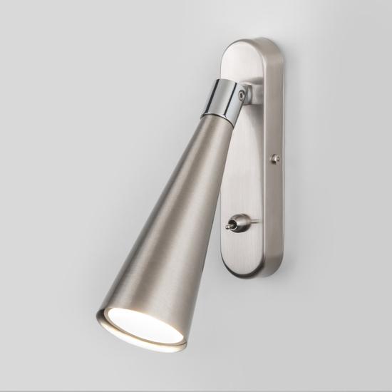 Фото №2 Horn GU10 SW сатинированный никель настенный светильник MRL 1010