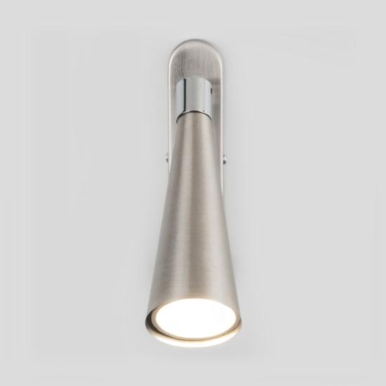 Фото №3 Horn GU10 SW сатинированный никель настенный светильник MRL 1010