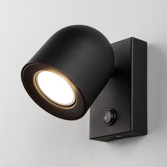 Фото №2 Ogma GU10 SW чёрный настенный светильник MRL 1009