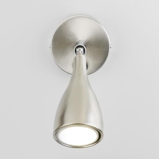 Фото №3 Klio GU10 SW сатинированный никель настенный светильник MRL 1008