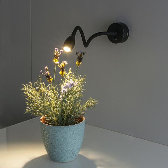 Фото №3 BAND LED черный настенный светодиодный светильник MRL LED 1020