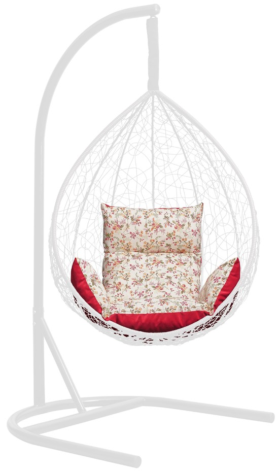 фото Подушка комбинированная со спинкой и подлокотниками для подвесного кресла