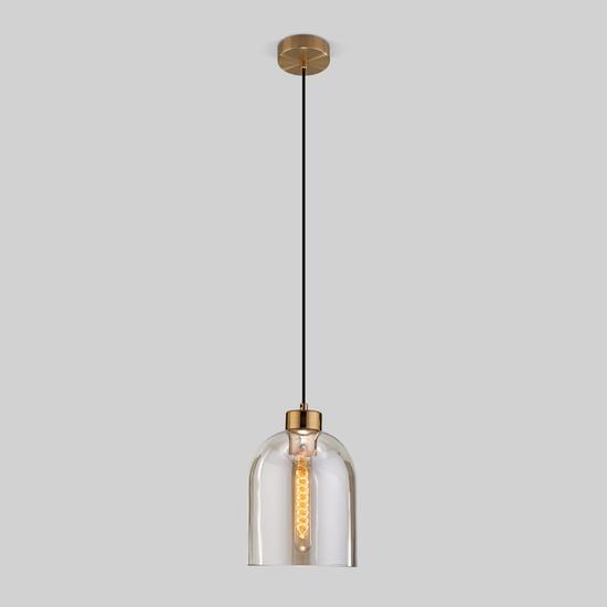 Фото №2 Подвесной светильник со стеклянным плафоном 50119/1 латунь