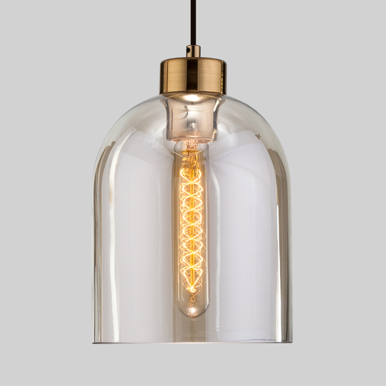 Фото №3 Подвесной светильник со стеклянным плафоном 50119/1 латунь