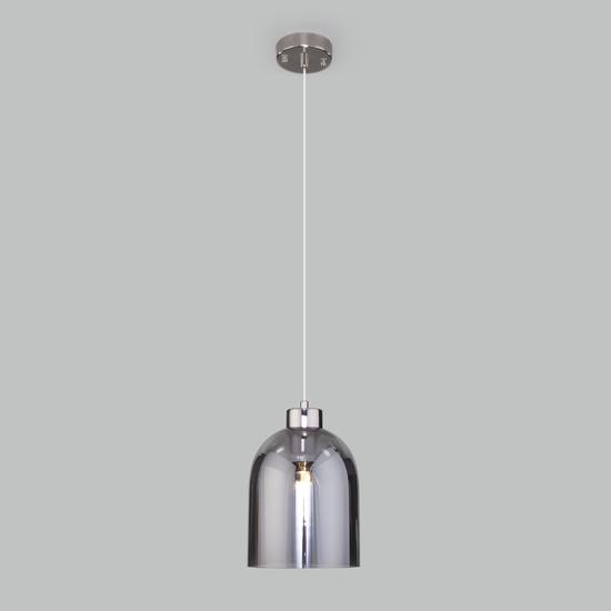Фото №3 Подвесной светильник со стеклянным плафоном 50119/1 никель