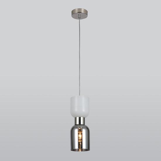 Фото №2 Подвесной светильник со стеклянным плафоном 50118/1 никель