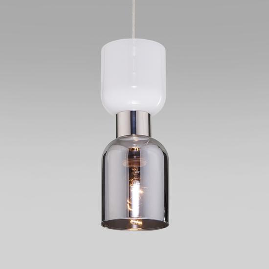 Фото №3 Подвесной светильник со стеклянным плафоном 50118/1 никель