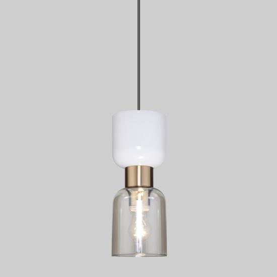 Фото №2 Подвесной светильник со стеклянным плафоном 50118/1 латунь