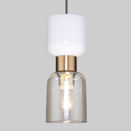 Фото №3 Подвесной светильник со стеклянным плафоном 50118/1 латунь