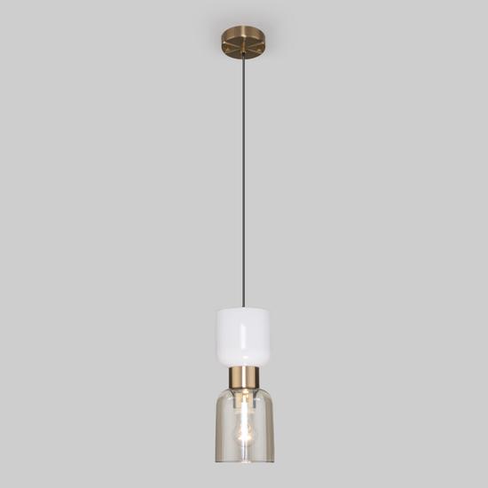 Фото №4 Подвесной светильник со стеклянным плафоном 50118/1 латунь