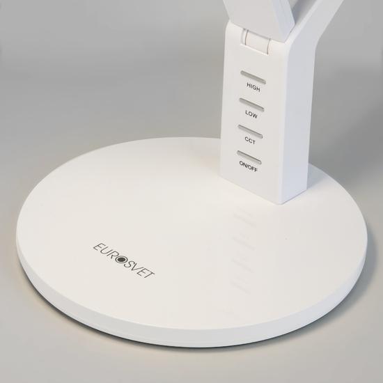 Фото №3 Светодиодная настольная лампа с сенсорным управлением 80426/1 белый