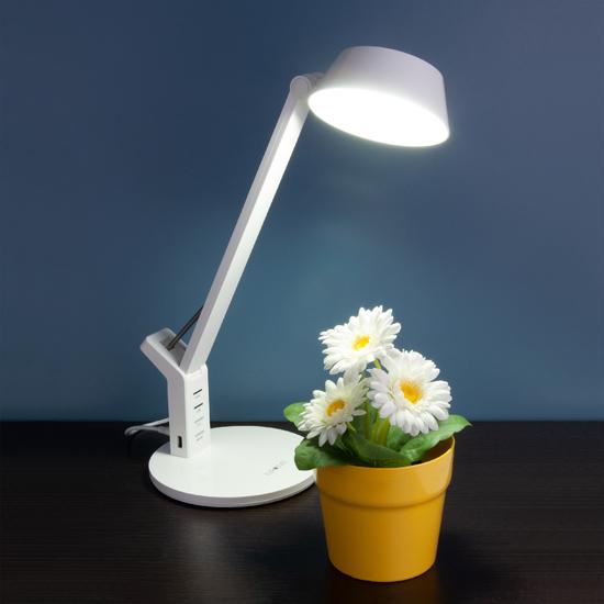 Фото №5 Светодиодная настольная лампа с сенсорным управлением 80426/1 белый