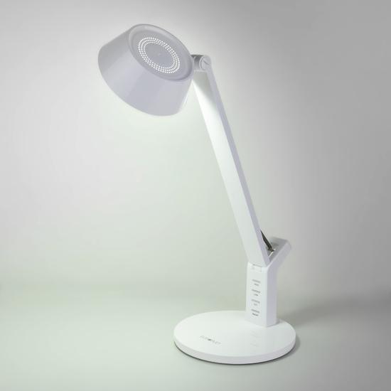 Фото №6 Светодиодная настольная лампа с сенсорным управлением 80426/1 белый