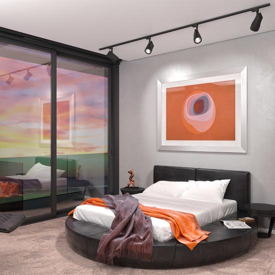 Фото №4 Светильник потолочный светодиодный Vista Черный 32W 4200K LTB16