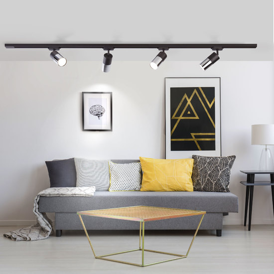 Фото №4 Светильник потолочный светодиодный Avantag Черный матовый/хром 6W 4200K LTB27