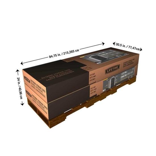 Фото №13 Пластиковый сарай LifeTime 7'x4,5' (2,1 м х 1,37 м)