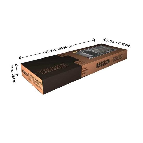 Фото №15 Пластиковый сарай LifeTime 7'x4,5' (2,1 м х 1,37 м)