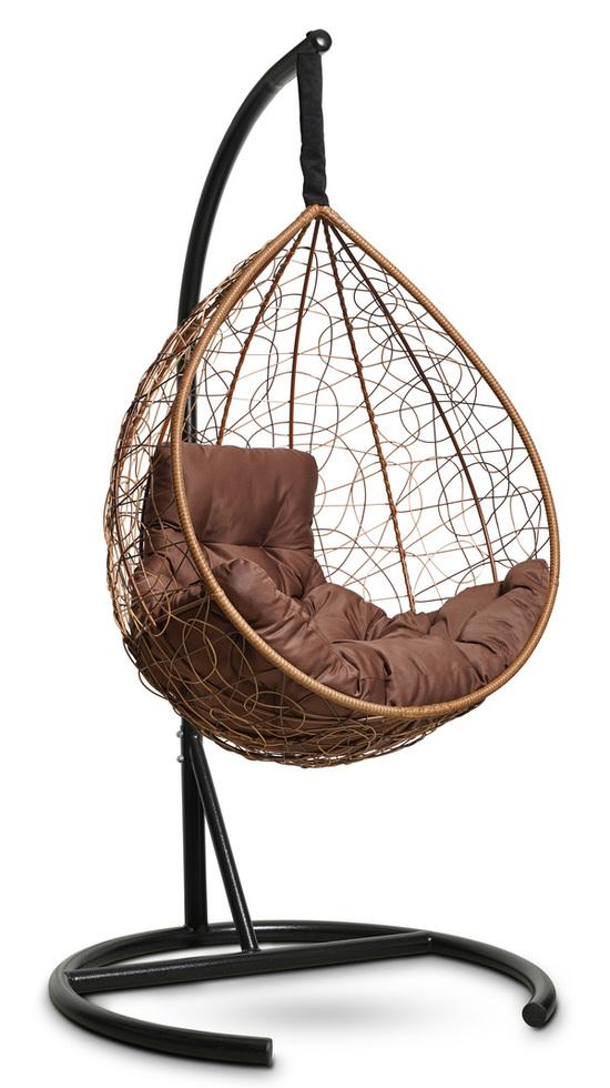 Фото №3 Подвесное кресло-кокон SEVILLA COMFORT горячий шоколад + каркас