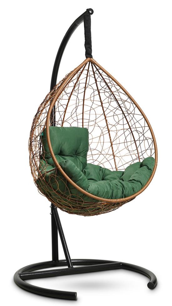 Фото №4 Подвесное кресло-кокон SEVILLA COMFORT горячий шоколад + каркас